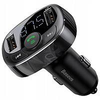Автомобильное зарядное устройство Baseus S09 + Bluetooth ,MP3  3.4А 2USB (Black)