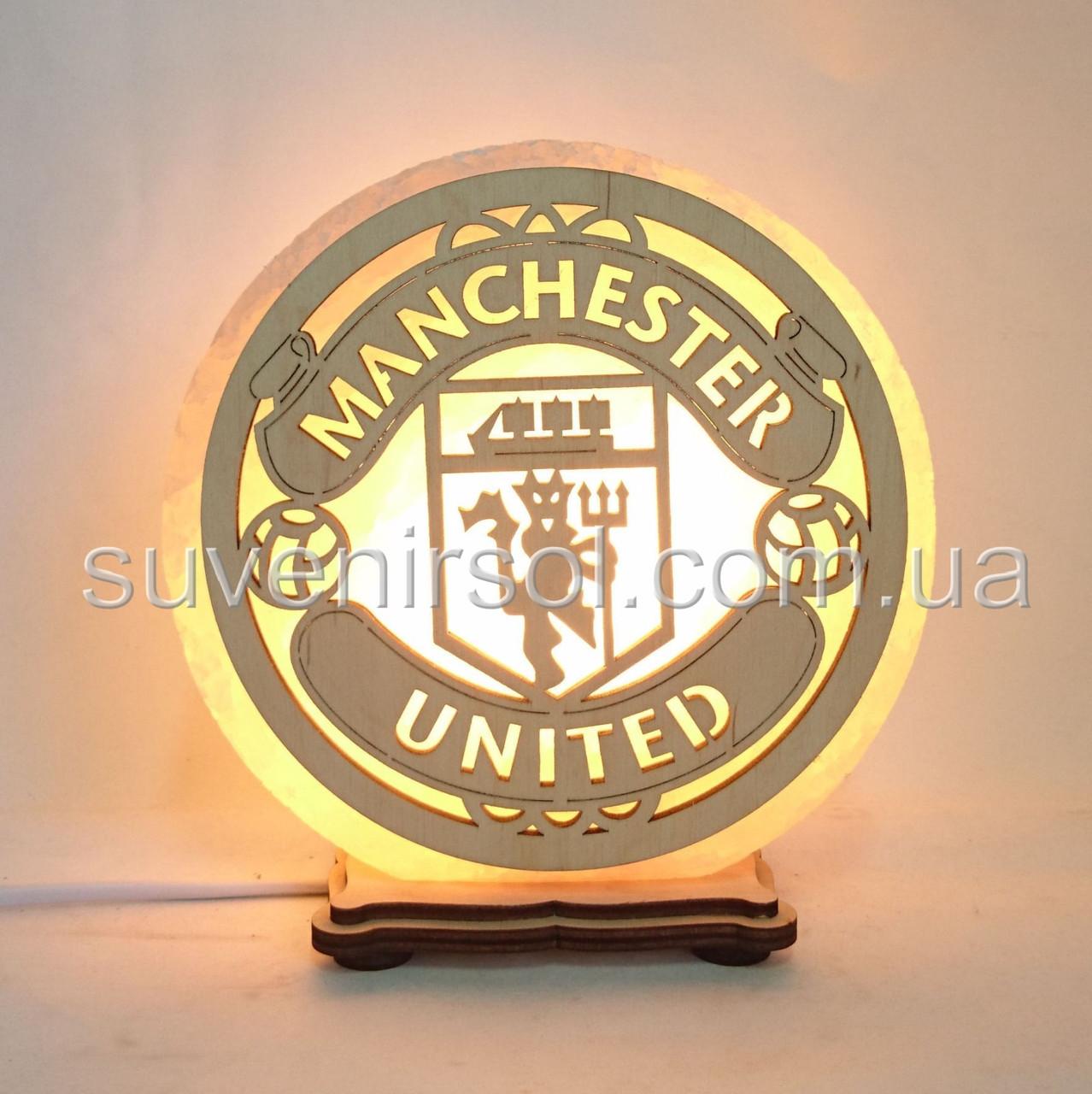 Соляной светильник круглый Манчестер