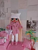 Шуба, сапожки, штаники, шапка, сумочка для кукол Лол омг. Ручная работа!