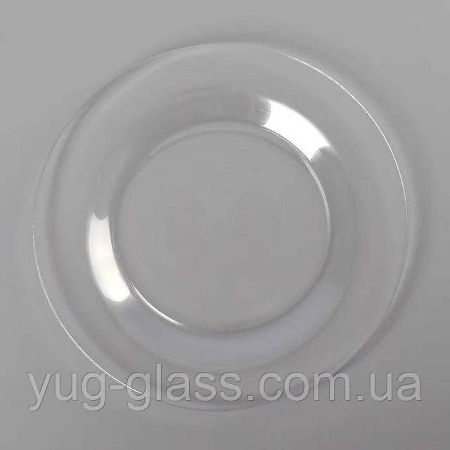 Прозора тарілка обідня
