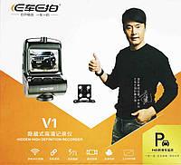 Видеорегистратор автомобильный на две камеры DVR V1 WIFI