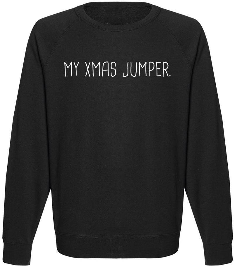 Чоловічий світшот My Xmas Jumper. (чорний)