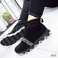 Ботинки женские VTV черные 8945 Зима
