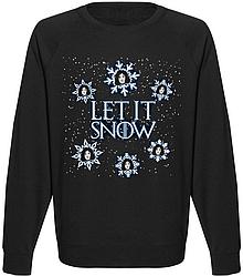 Мужской свитшот Game Of Thrones - Let It Snow (чёрный)