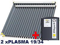 Paradigma-2xPLASMA 19/34 ,5-7 человек.Покатая крыша, керамическая черепица