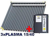 Paradigma-3xPLASMA 15/40, 10-12 человек.Покатая крыша, керамическая черепица