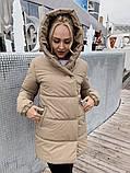 Женская зимняя куртка Зефирка фото реал, цвета : мята, розовый, светло-зеленая олива, чёрный , серый, бежевый,, фото 4