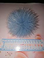 Помпон меховой (песец) нежно голубого цвета, фото 1