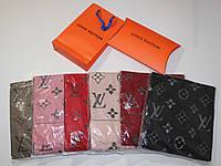 Теплый вязаный шарф Louis Vuitton Monogram Logomania
