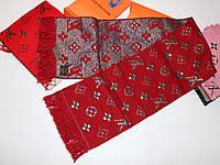 Теплый вязаный шарф Louis Vuitton Monogram Logomania Бордовый