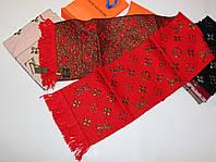 Теплый вязаный шарф Louis Vuitton Monogram Logomania Красный