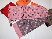 Теплый вязаный шарф Louis Vuitton Monogram Logomania Розовый