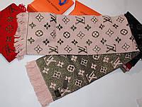 Теплый вязаный шарф Louis Vuitton Monogram Logomania Нежно розовый