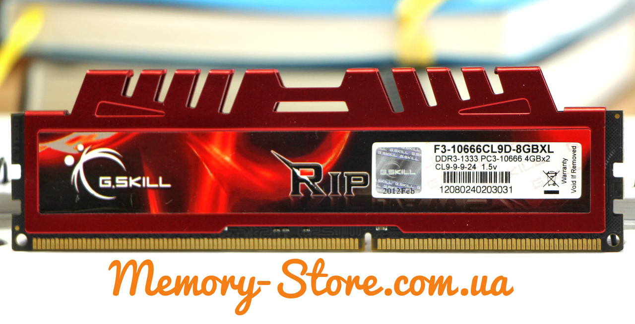 Оперативная память G.Skill DDR3 4Gb PC3-10600 1333MHz (б/у)
