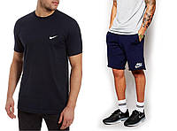 """Мужской комплект футболка + шорты Nike черного и серого цвета """""""" В стиле Nike """""""""""