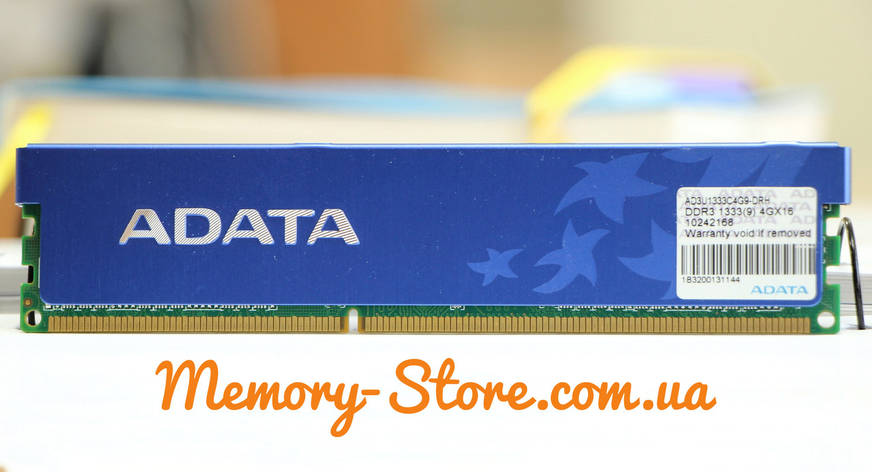 Оперативная память для ПК ADATA DDR3 4Gb PC3-10600 1333MHz Intel и AMD, б/у, фото 2