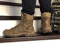 Зимние мужские высокие ботинки из натурального нубука с 40 по 46 размер