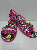 Босоножки Женские CROCS  Isabella Candy Pink Tropical  Сандалии Оригинал Крокс Размер W11 41-42