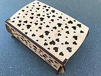 Подарочная коробка складная из дерева 195х132х67мм