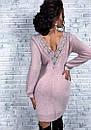 Платье ангора с гипюровыми вставками на спине, фото 5