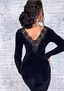 Платье ангора с гипюровыми вставками на спине, фото 10