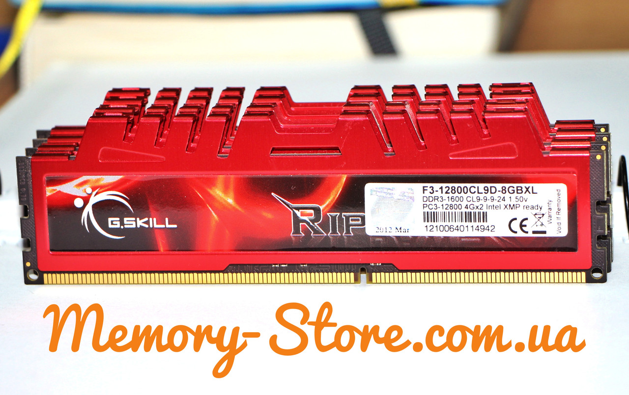 Оперативная память G.Skill DDR3 4Gb PC3-12800 1600MHz (б/у)