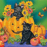 """Схема для вышивания бисером на художественном холсте """"Хэллоуин"""""""