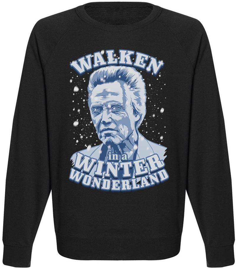 Мужской свитшот Walken In A Winter Wonderland (чёрный)