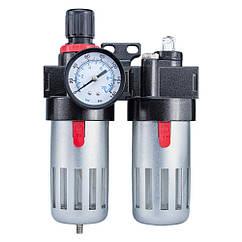 Блок подготовки воздуха (фильтр, редуктор, манометр, маслообогатитель ) Sigma (7034021)