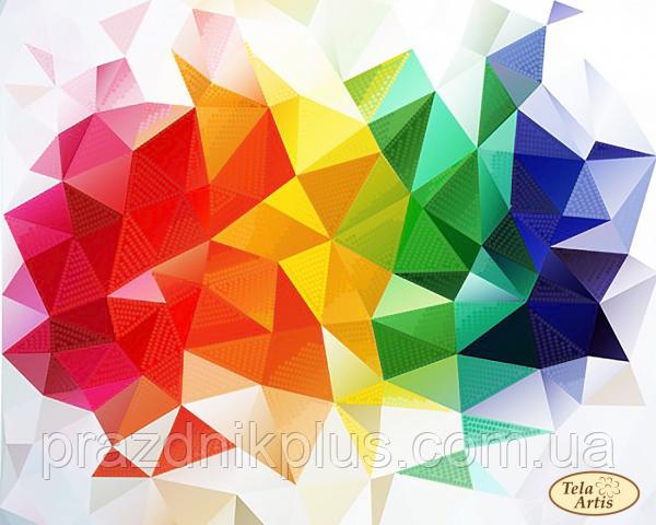 """Схема для вышивки на атласе """"Веселая геометрия"""""""