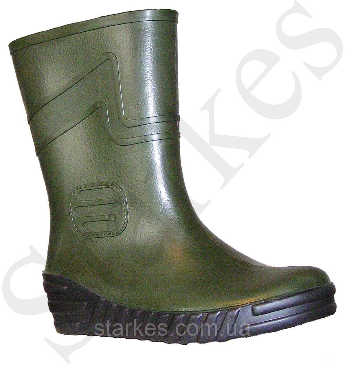 Сапоги резиновые зеленые мужские из ПВХ, 40 р и др., на выбор
