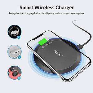 Беспроводное зарядное устройство Topk 10W Black QI Quick Charge (B46W)