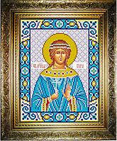 """Схема для вышивания бисером на атласе """"Вера Святая"""" (ИС-565)"""