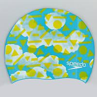 Шапочка для плавання дитяча SPEEDO JUNIOR SLOGAN PRINT 808386B955