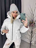 Женская курточка дутая евро зима 42-46 рр.  БЕЛАЯ, фото 1