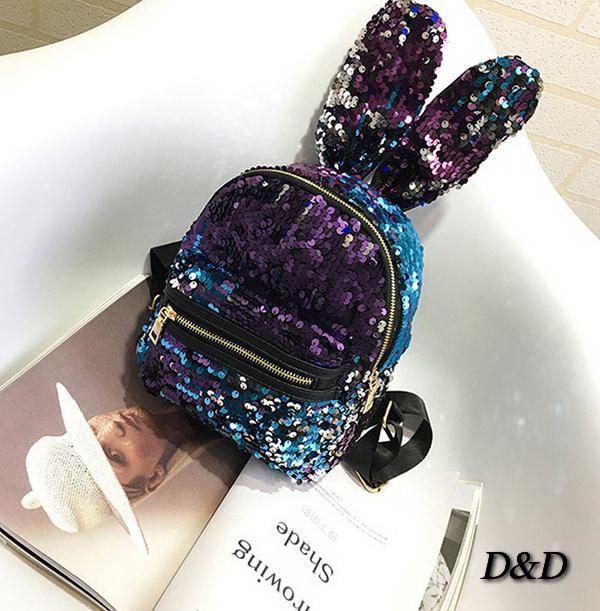 Детский мини-рюкзак с паедками двухстороннний с ушками
