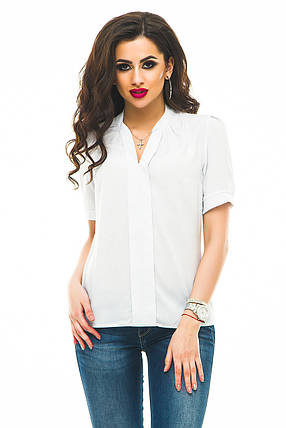 Блузка 239 белый горох размер 46, фото 2
