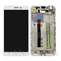 Дисплей (LCD) Asus ZenFone 3 Max (5.5) | ZC553KL с тачскрином и рамкой, белый