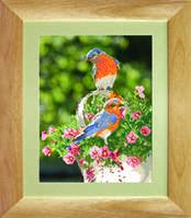 Схема для вышивания бисером на авторской канве птицы