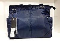 Сумка Dolly 471 женская синяя классическая текстильная один отдел 37 х 26 х 15см