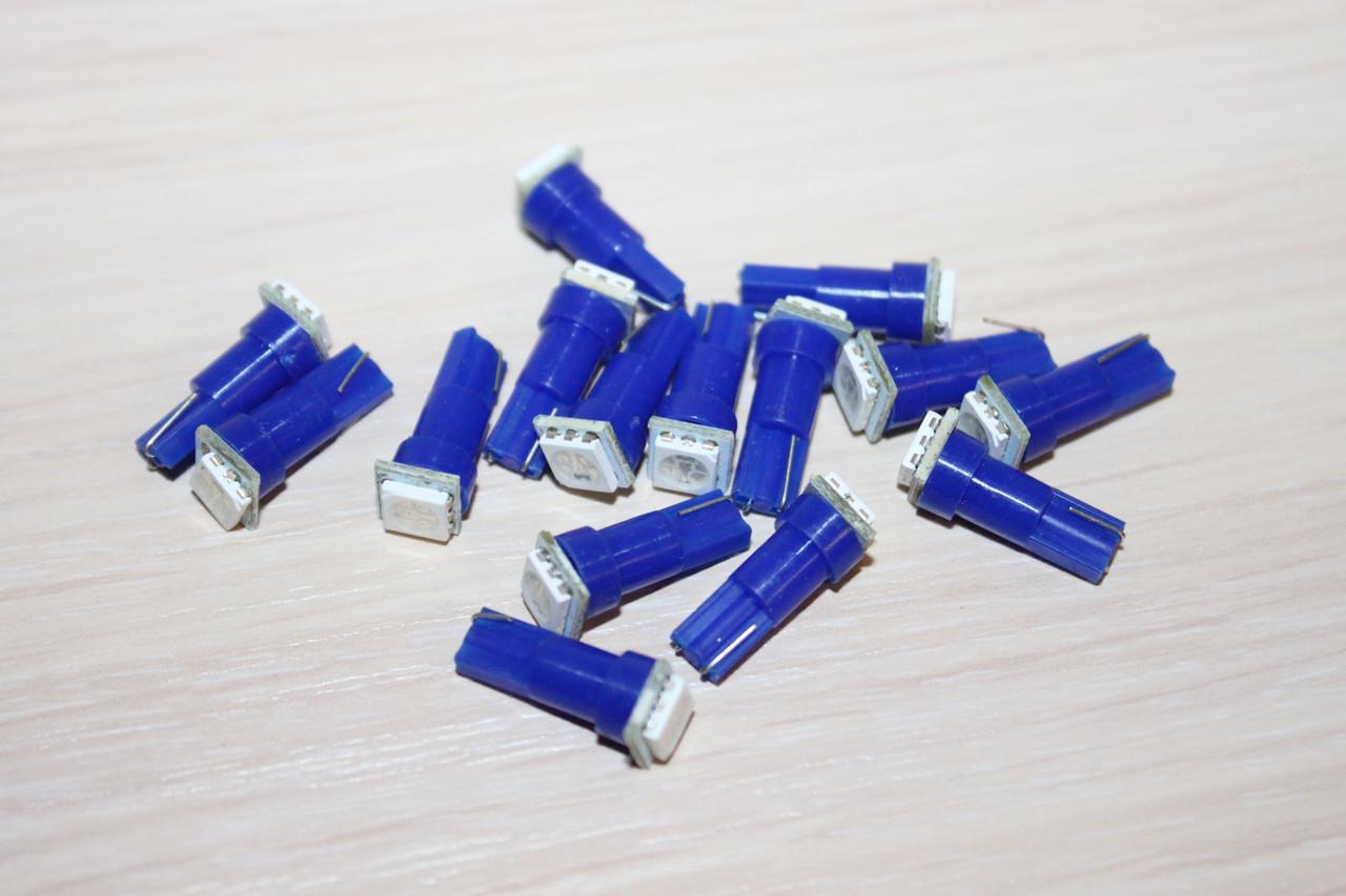 Лампа LED T5 12V LED Blue