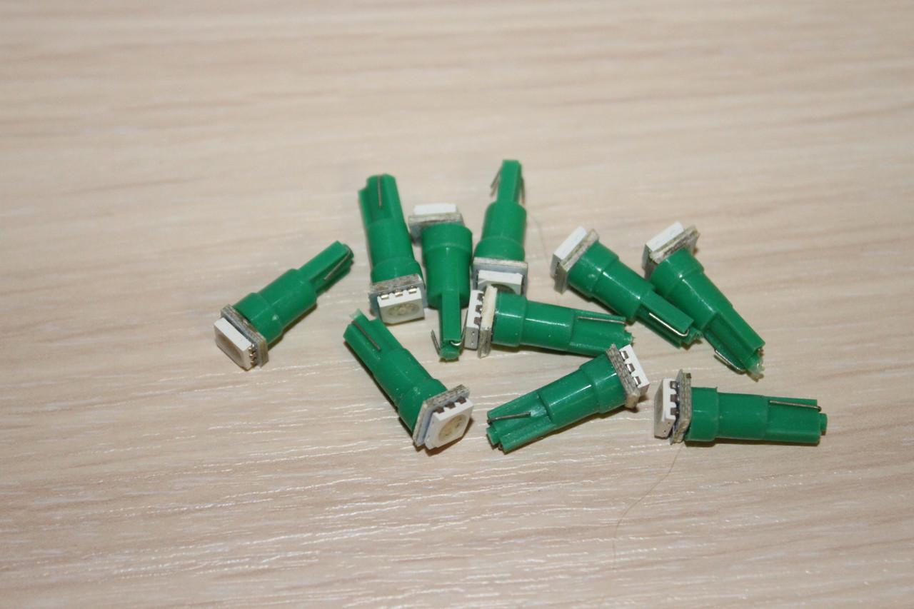 Лампа LED T5 12V LED Green