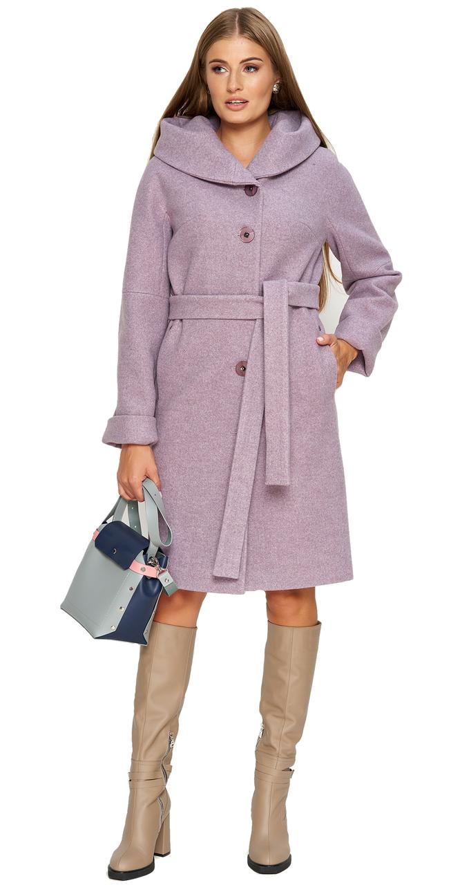 Пальто демисезонное женское NIO Collection Лора Сиреневый, пальто женское джени