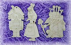 Щелкунчик, мышиный король и принцесса набор фигурок для творчества