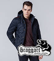Braggart 1268 | Мужская ветровка черно-синяя