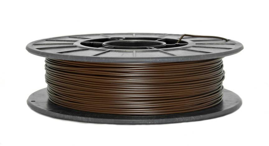 Нить PLA (ПЛА) пластик для 3D печати, Коричневый (1.75 мм/0.5 кг), фото 2