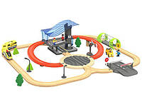Деревянная железная дорога Future 4,6м 56 элементов PlayTive Junior