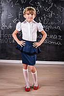 Красивая школьная юбка для девочки 505 с кружевом, фото 1