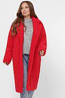 Шубка женская искусственная стильная красная PL-8841-14