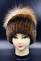 Женская меховая шапка Klaus Рекс  с бубоном из Исландской лисы 55-58 Соболь (18/104)